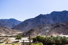 De bergen van Fujairah Royalty-vrije Stock Afbeeldingen