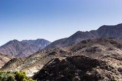 De bergen van Fujairah Stock Foto's