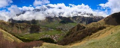 De bergen van Georgië Stock Afbeelding