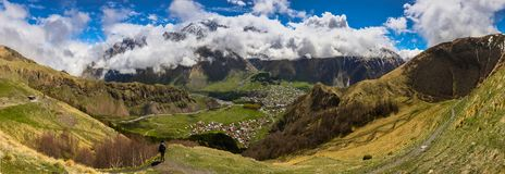 De bergen van Georgië Stock Foto's