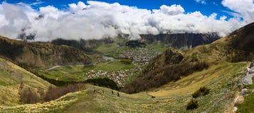 De bergen van Georgië Stock Foto
