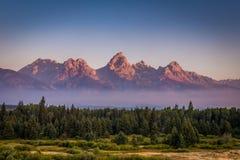 De bergen van Grand Teton Royalty-vrije Stock Afbeelding