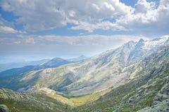 De bergen van Gredos van het zuiden Stock Fotografie