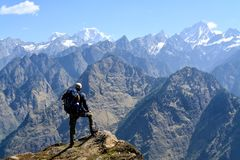 De bergen van Hathighoda in Uttarakhand, India stock foto's