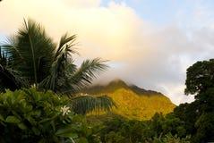 De Bergen van Hawaï Oahu Koolau bij dageraad royalty-vrije stock afbeelding