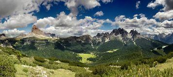 De bergen van het dolomiet Stock Afbeelding