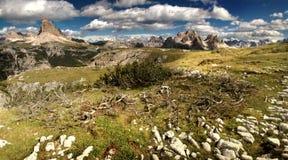 De bergen van het dolomiet Stock Foto's