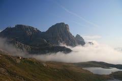 De bergen van het dolomiet Stock Afbeeldingen