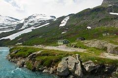 De bergen van het landschap van Noorwegen Royalty-vrije Stock Afbeelding