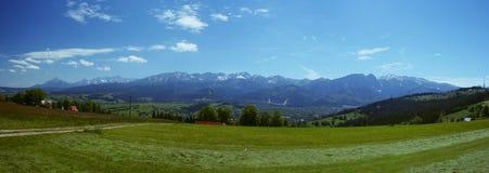 De bergen van het panorama Royalty-vrije Stock Afbeeldingen
