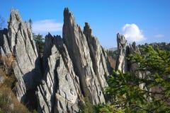 De bergen van het Zuidelijke Oeralgebergte Rusland royalty-vrije stock fotografie