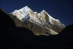 De bergen van Himalayagebergte, Bhagirathi Stock Foto's