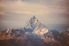 De bergen van Himalayagebergte van de Instagramfilter Stock Foto
