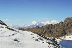 De bergen van Himalayan Stock Foto