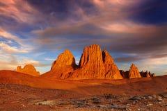 De bergen van Hoggar, Algerije Stock Afbeelding