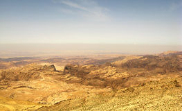 De bergen van Jordanië Royalty-vrije Stock Foto's