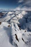 De bergen van Kerry met sneeuw worden behandeld die Royalty-vrije Stock Fotografie