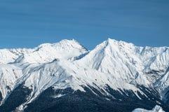 De bergen van Krasnayapolyana stock afbeeldingen