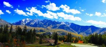 De Bergen van La Plata in Dalingspracht! royalty-vrije stock foto's