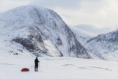 De bergen van Lapland royalty-vrije stock fotografie