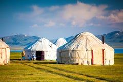 De Bergen van Nice in het land van Kyrgyzstan stock foto's