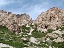 De bergen van Pamir Stock Afbeeldingen