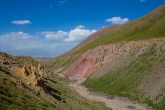 De bergen van Pamir dichtbij de piek van Lenin stock afbeeldingen