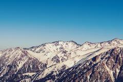 De bergen van panoramatian shan stock foto's