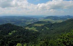 De bergen van Pieniny Royalty-vrije Stock Foto's