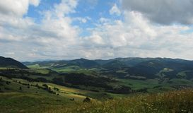 De bergen van Pieniny Stock Foto's