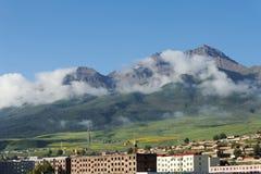 De bergen van Qilian stock fotografie