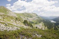 De bergen van Sayansk. Rusland. Stock Afbeeldingen