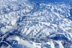 De bergen van Siberië stock foto