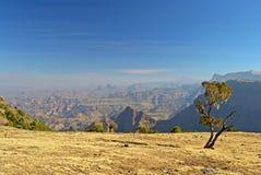 De Bergen van Simien landascape Stock Afbeeldingen