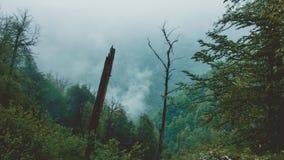 De bergen van Sotchi in bewolkt weer royalty-vrije stock foto