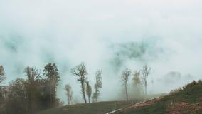 De bergen van Sotchi in bewolkt weer royalty-vrije stock afbeeldingen