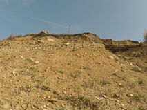 De bergen van Tadzhikistan Stock Foto's