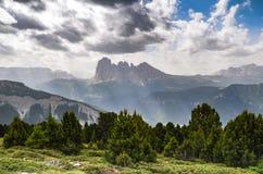 De bergen van Trentinoalto adige, Italië Stock Afbeeldingen