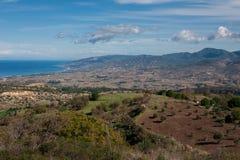 De Bergen van Troodos in Cyprus stock fotografie
