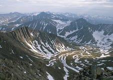 De bergen van Ural Stock Fotografie