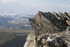 De bergen van Ural royalty-vrije stock foto