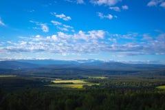 De bergen van Ural stock foto