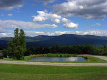 De bergen van Vermont Stock Foto's