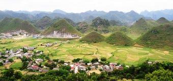 De bergen van Vietnam stock foto