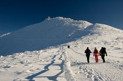 De bergenbedevaart van de winter Royalty-vrije Stock Afbeelding