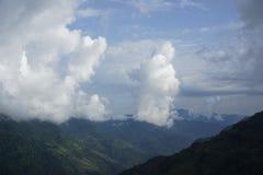De bergengebieden in Annapurna-Kring Royalty-vrije Stock Foto
