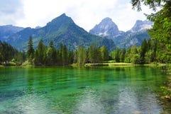 De bergenlandschap van alpen Royalty-vrije Stock Afbeeldingen