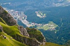 De bergenlandschap van Bucegi Stock Afbeeldingen