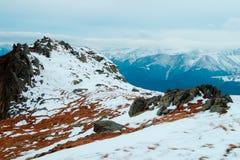 De bergenlandschap van de winter Royalty-vrije Stock Foto's