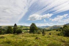 De bergenlandschap van de zomer Stock Foto